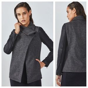 Fabletics Faux Leather Sleeves Milano jacket